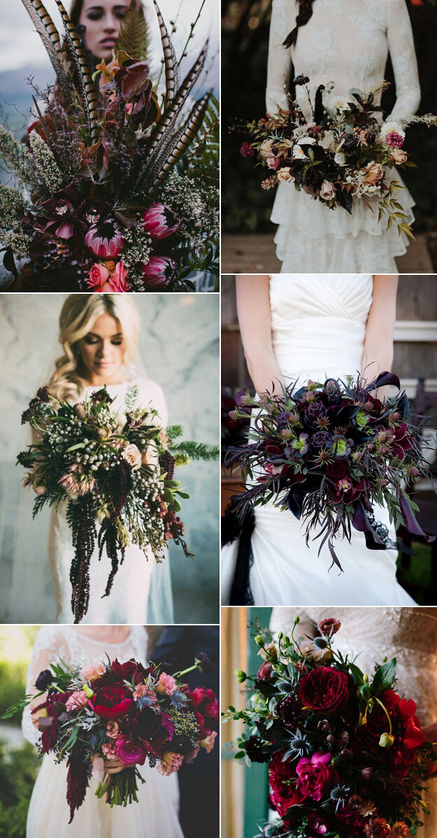 Dark and Dreamy Fall Bouquets