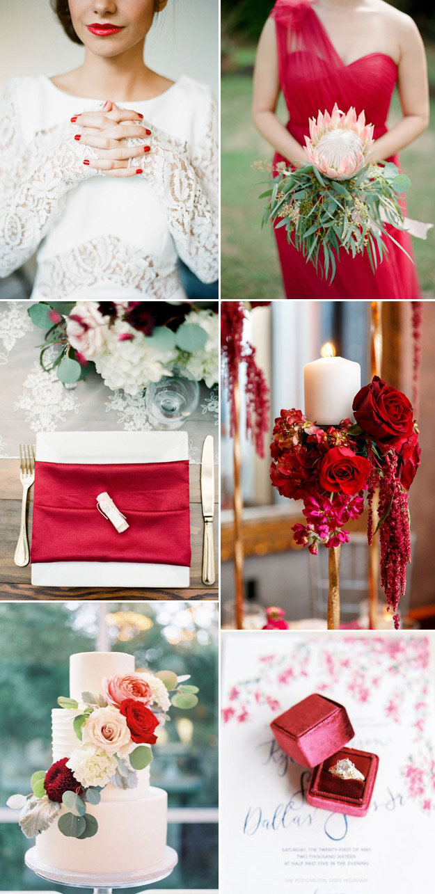Romantic and Red Valentines Wedding Inspiration