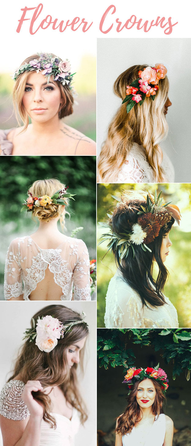 Wedding Flower Crown Inspiration