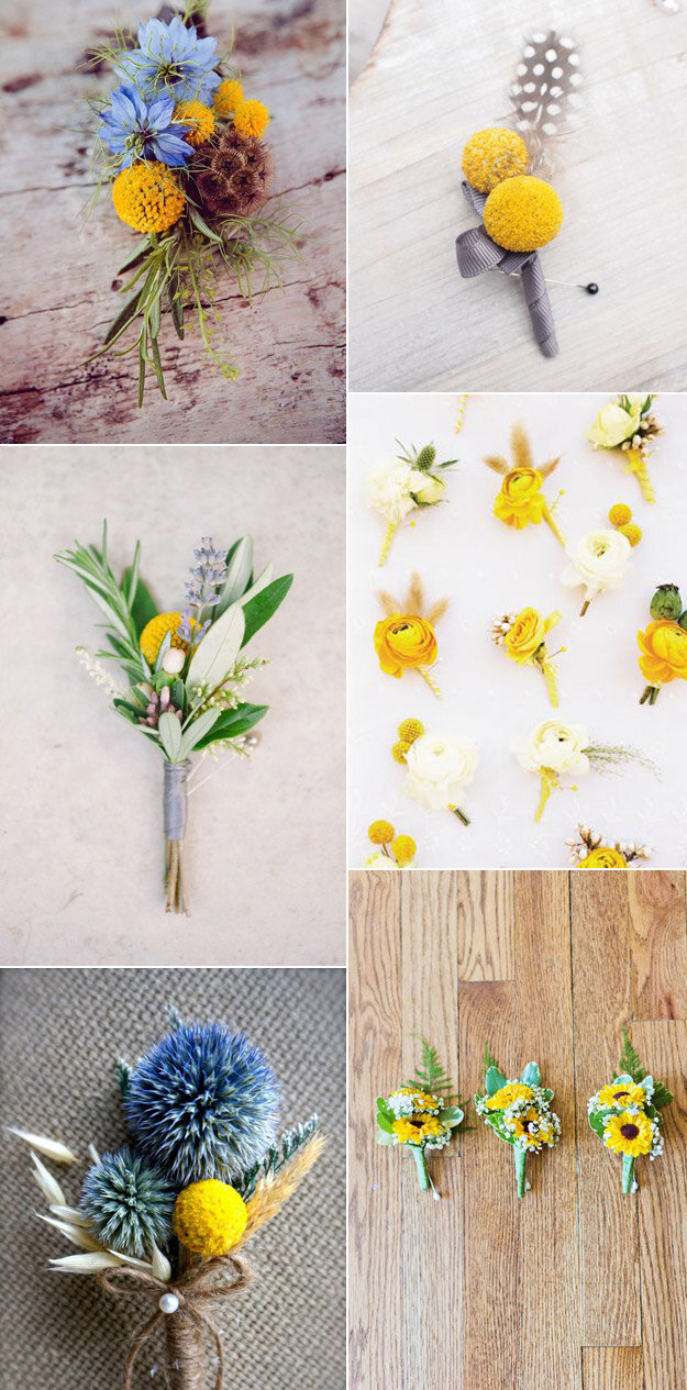 Cheery Yellow Boutonnieres