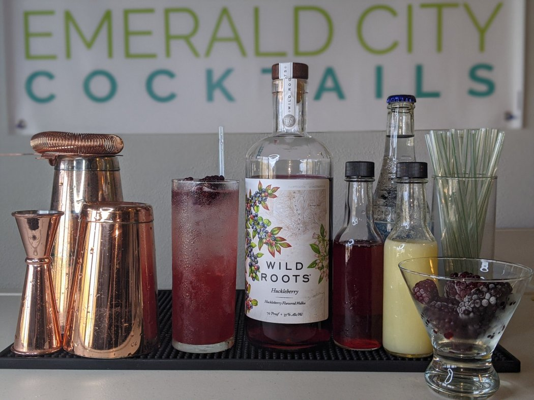 Blackberry Yuzu Fizz - Tart, sour & savory yuzu has been used since the18th century in traditional Japanese bathing rituals to mark the winter solstice, aid relaxation, and fight off sniffles & sneezes making it the perfect ingredient to add to your winter cocktail/mocktail bar.from Emerald City Cocktails