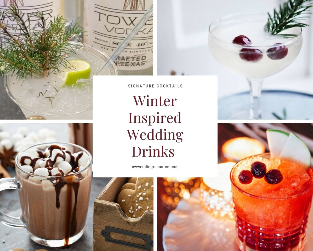 Winter Inspired Signature Drinks to Serve During Cocktail Hour