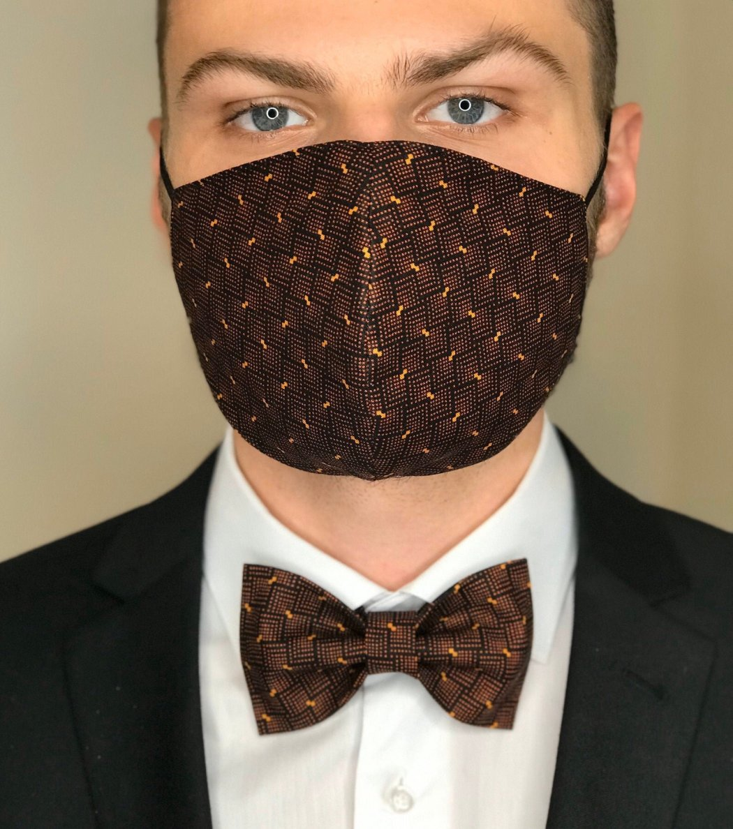 Not to be left out of the coordinating bridal attire, this Bow Tie + Face Mask matching set from Fashion Bride Studio out of Spokane, Washington makes sure the grooms, groomsmen, father of the brides, and father of the grooms look at dapper as can be too. Offering a rainbow of color options and paisley's, these masks and bow tie sets are sure to be a social distance friendly wedding must.