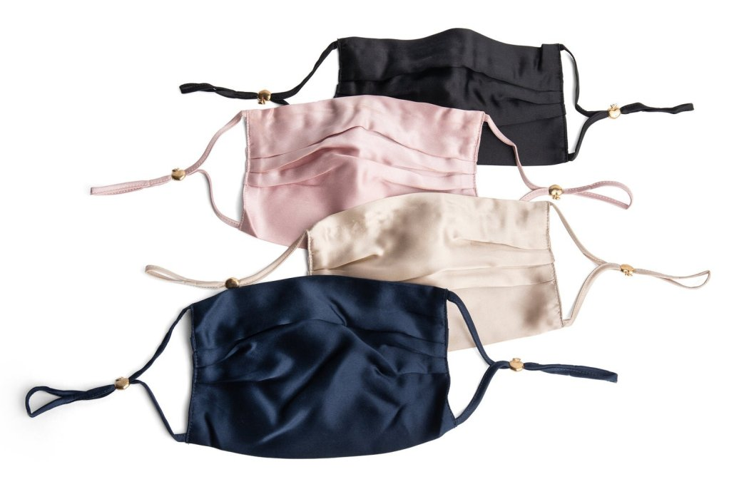 Featuring 100% Mulberry Silk, a naturally cooling and anti-bacterial material (no more maskne!), these 100% Silk Mask with Filter + Nose Wire masks make comfort top priority while also being beautiful. Available in blush pink, champagne gold, navy, and black this Seattle-based Etsy store also offer over 100(!) styles of masks from elegant to murderino (SSDGM) to holiday prints and sayings.