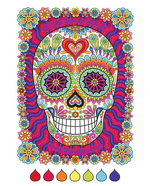 Sugar Skulls Coloring Book By Thaneeya Mcardle Thaneeya Com