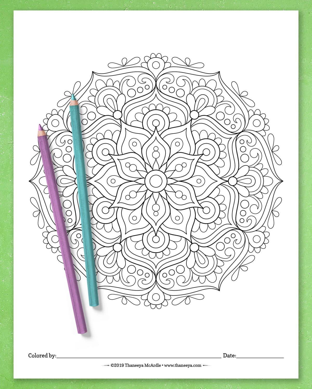 Detailed Mandala Coloring Pages By Thaneeya Mcardle Set Of 10 Printable Mandalas To Color Thaneeya Com