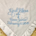 Personalized Embroidered Baby Blanket Custom Missal Breviary Covers
