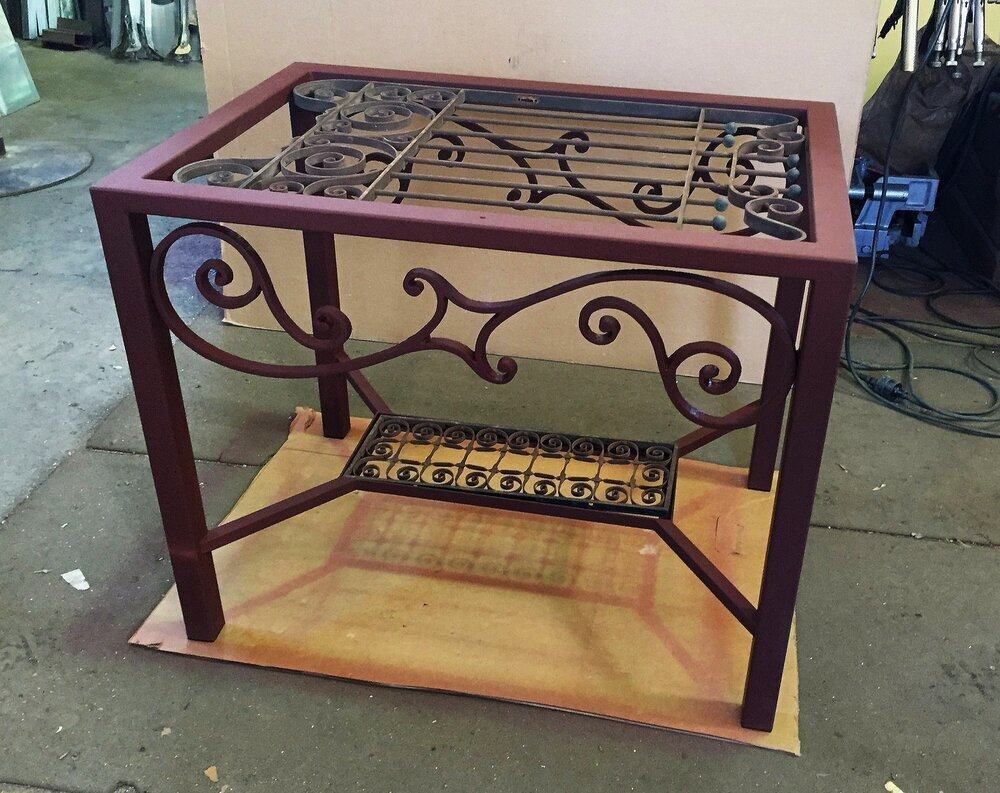 custom metal table bases creative