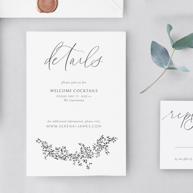 The Augusta Wedding Invitation Suite
