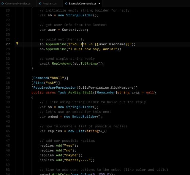 C# Discord Bot: Command Handling — The Ginger Ninja