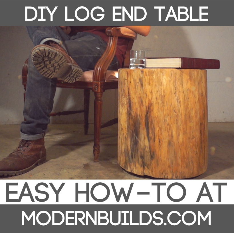 diy floating log end table modern builds