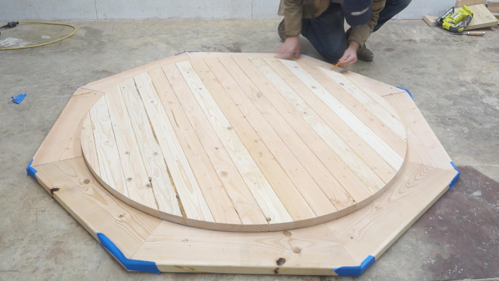 diy round farmhouse dining table