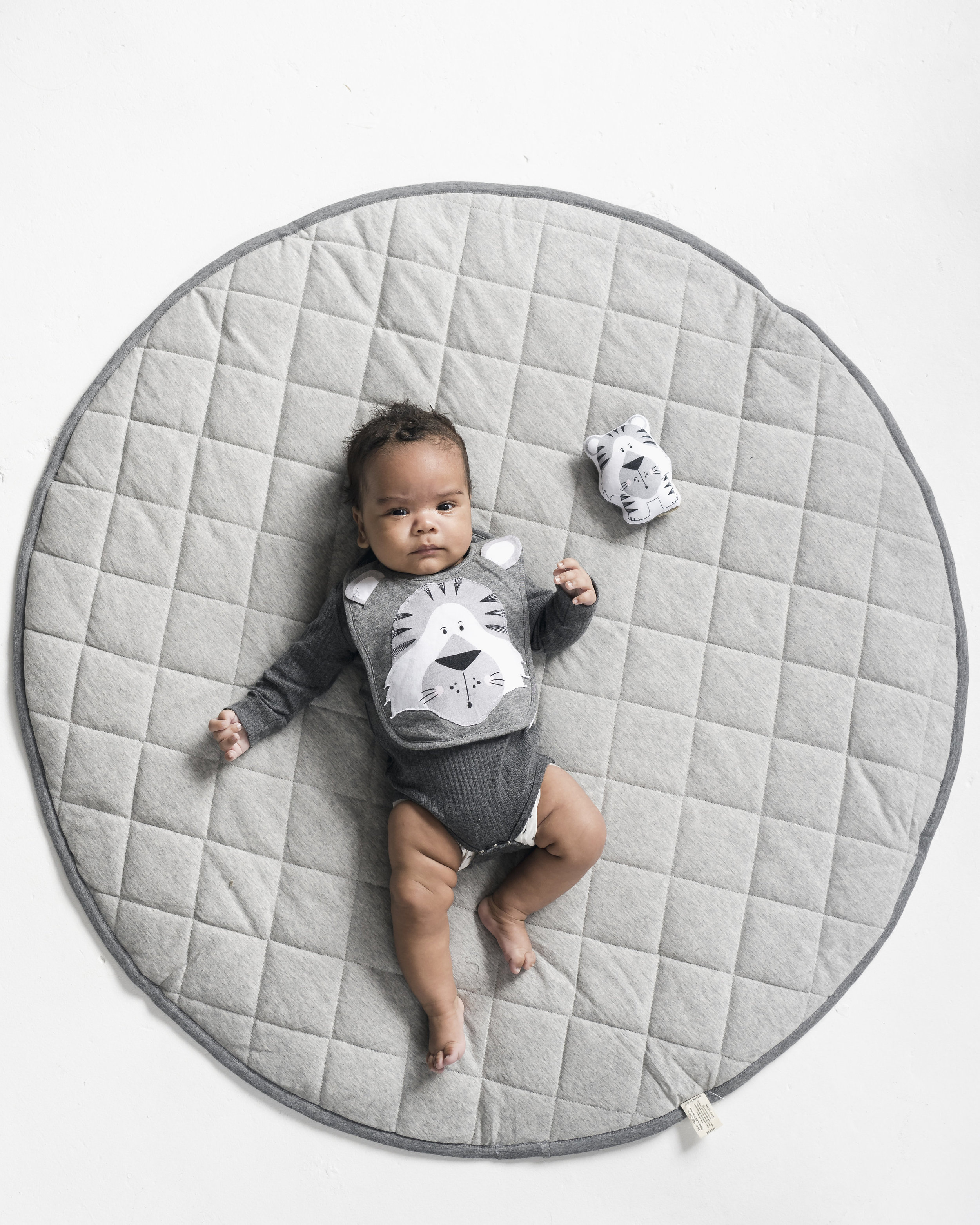 grey marle quilted playmat and tummy time pillow mister fly quality children s accessories