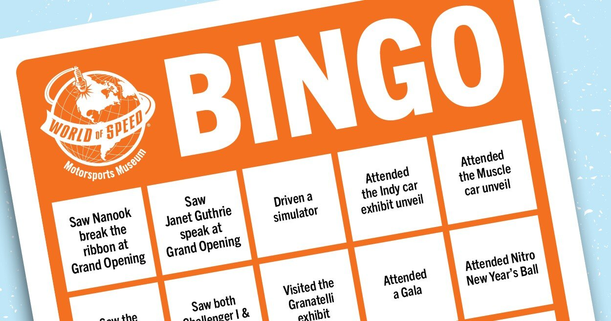 5th Year Anniversary Bingo Been There Done That At World Of Speed World Of Speed