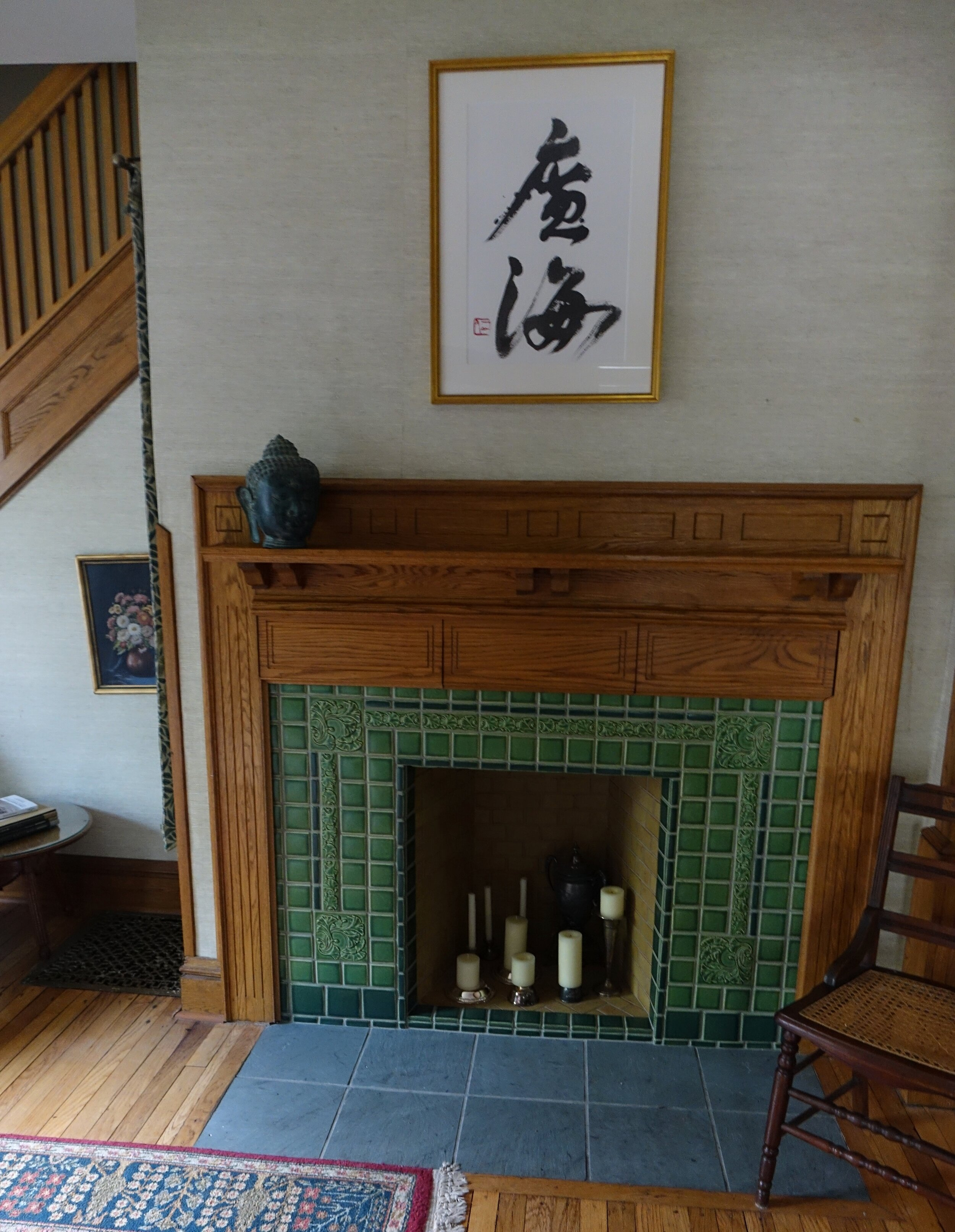 fireplaces tile art design