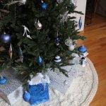 Snowbell Holiday Tree Skirt Free Pattern Knitatude
