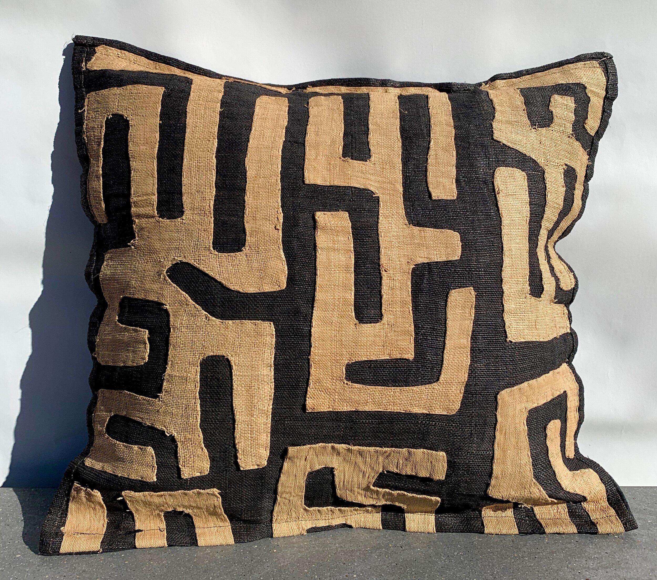 kuba cloth pillow 729 artefact design salvage