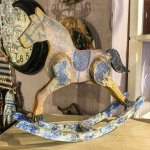 A Hand Painted Wooden Rocking Horse