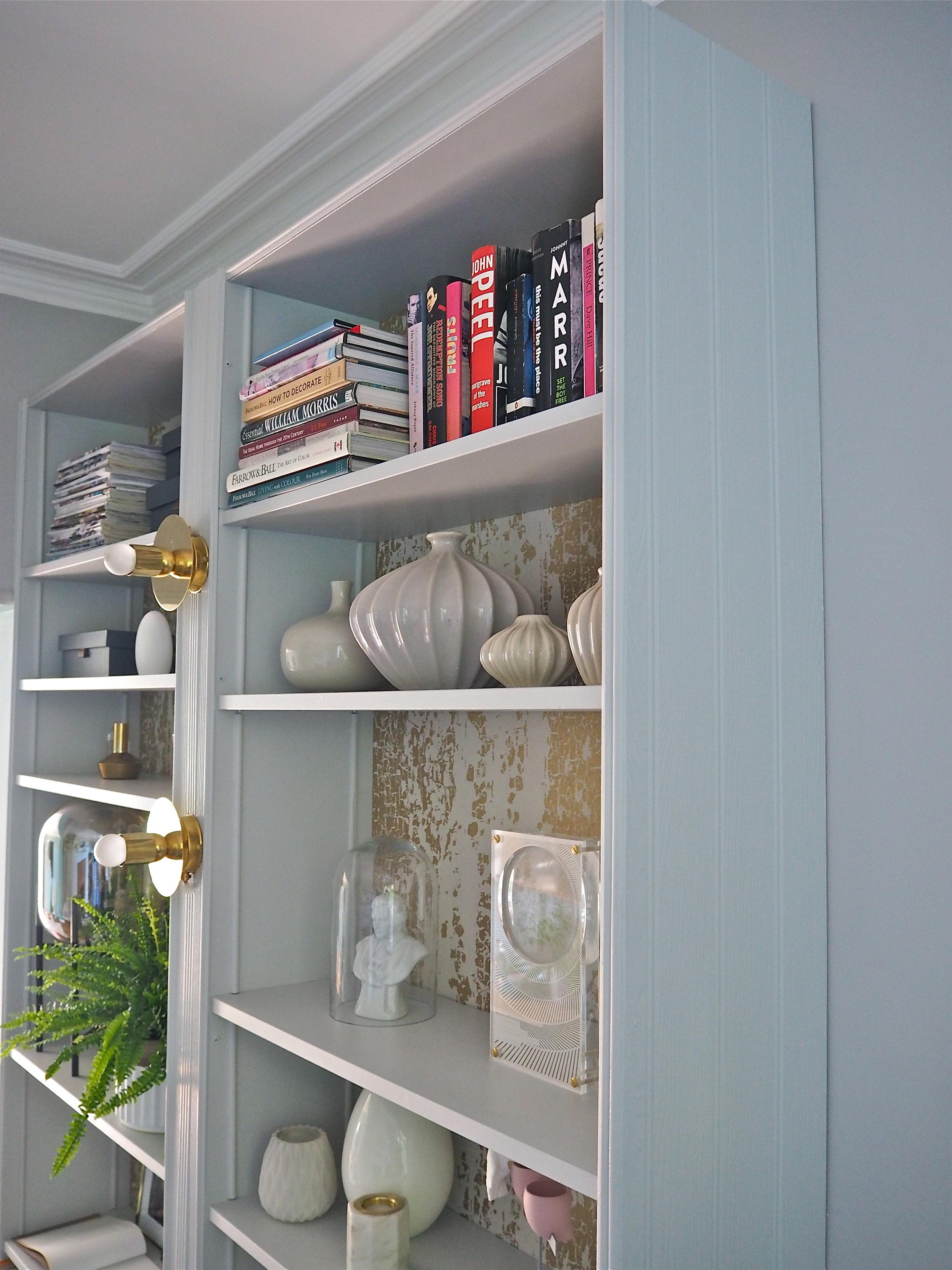 How I Created My Ikea Billy Bookcase Shelving Hack Melanie