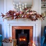 Autumnal Home Decor Diy Floral Fireplace Garland For Halloween Melanie Lissack Interiors