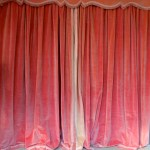 Pair Of Vintage Pink Velvet Drapes With Valence 145 Antiques