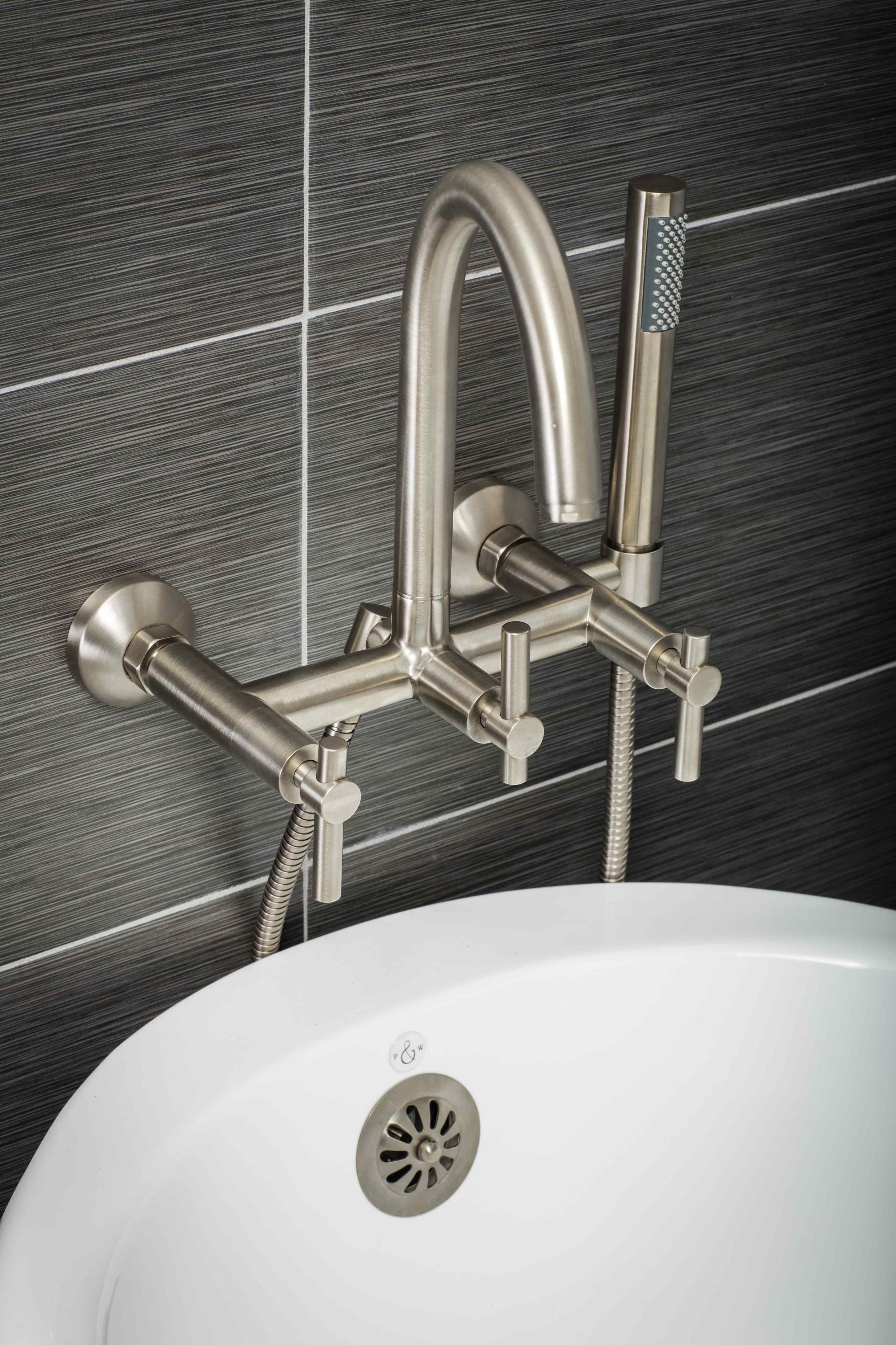 contemporary wall mount tub filler