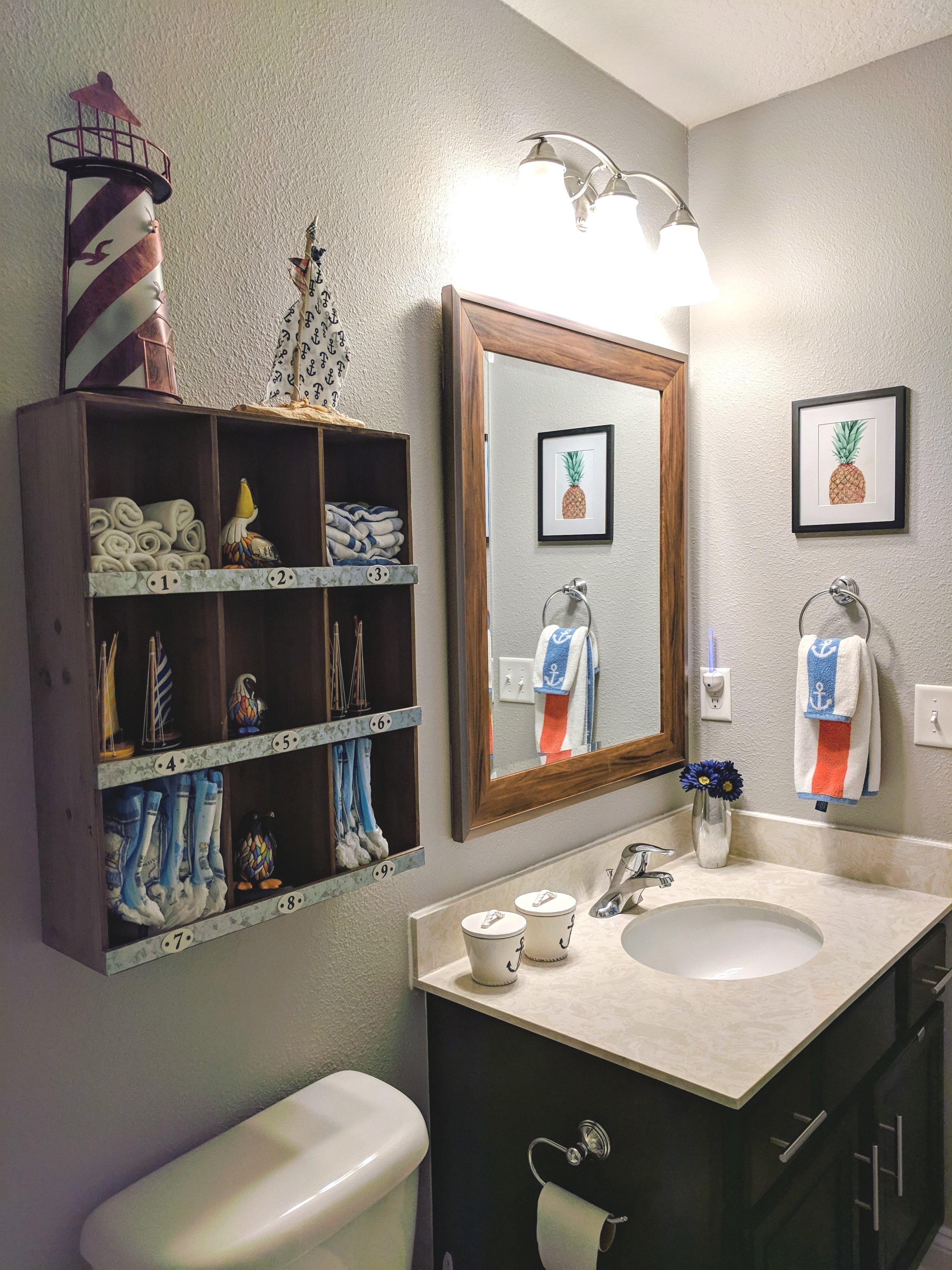 100 Room Challenge Nautical Kids Bathroom Reveal House