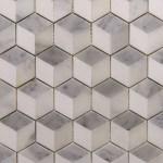 New York Marble Ceramic Inc Hexagon 3d Cube Thassos Carrara Calacatta