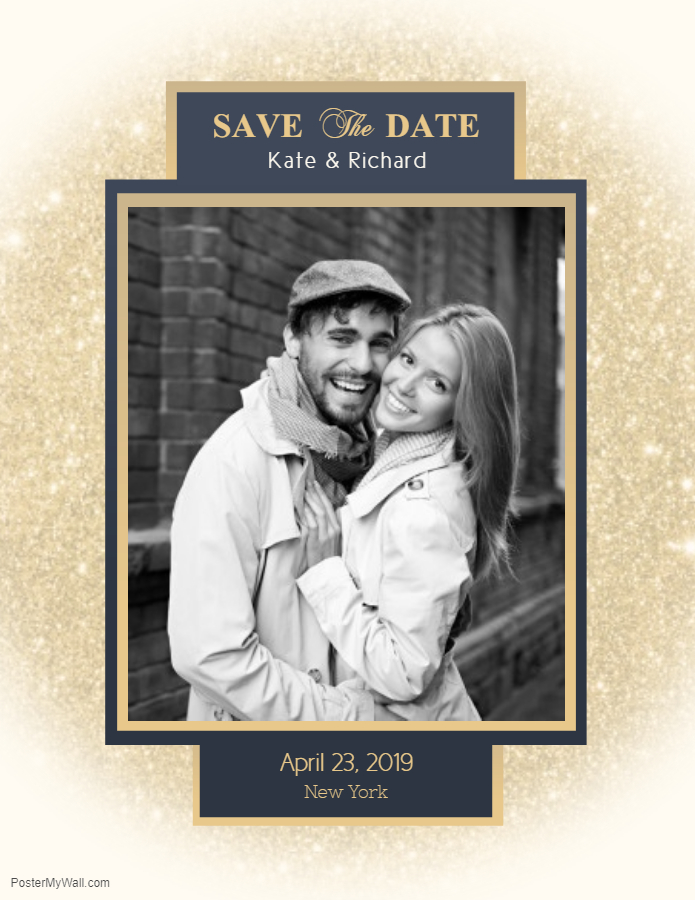 Save the date invitation picture