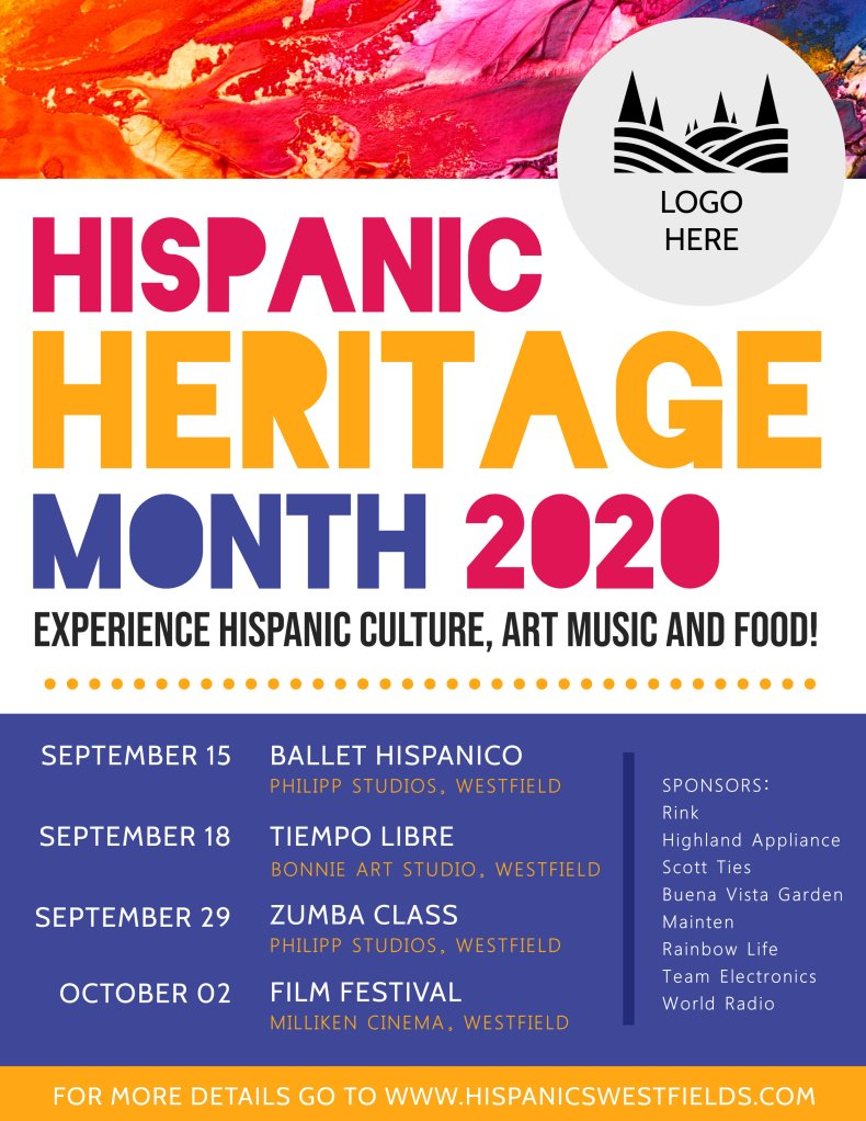 Hispanic heritage month event schedule