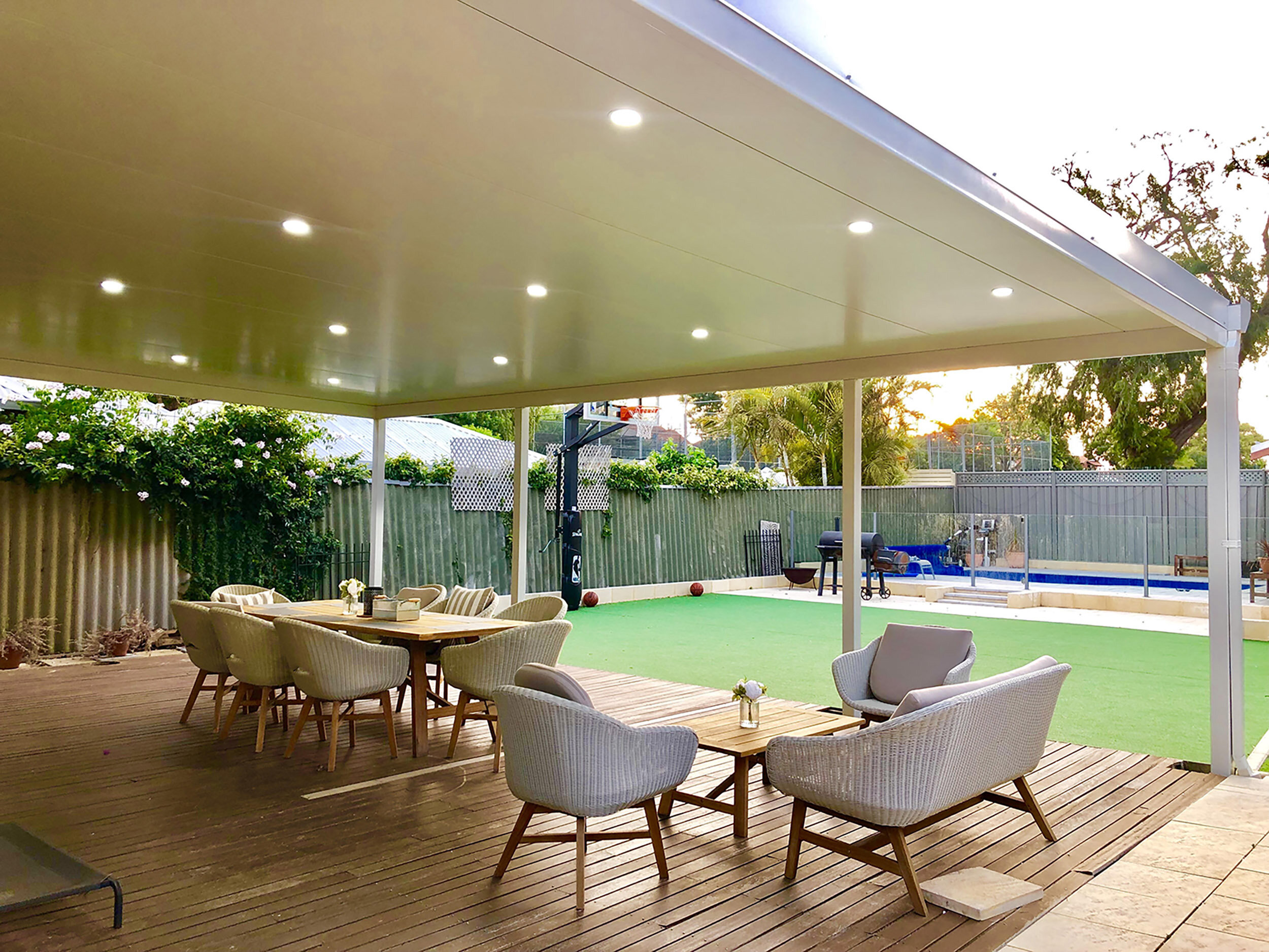 flat roof patios affordable colorbond