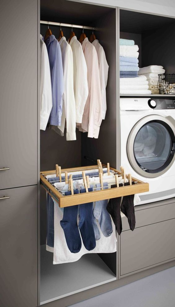 stylish laundry hanging rails that i