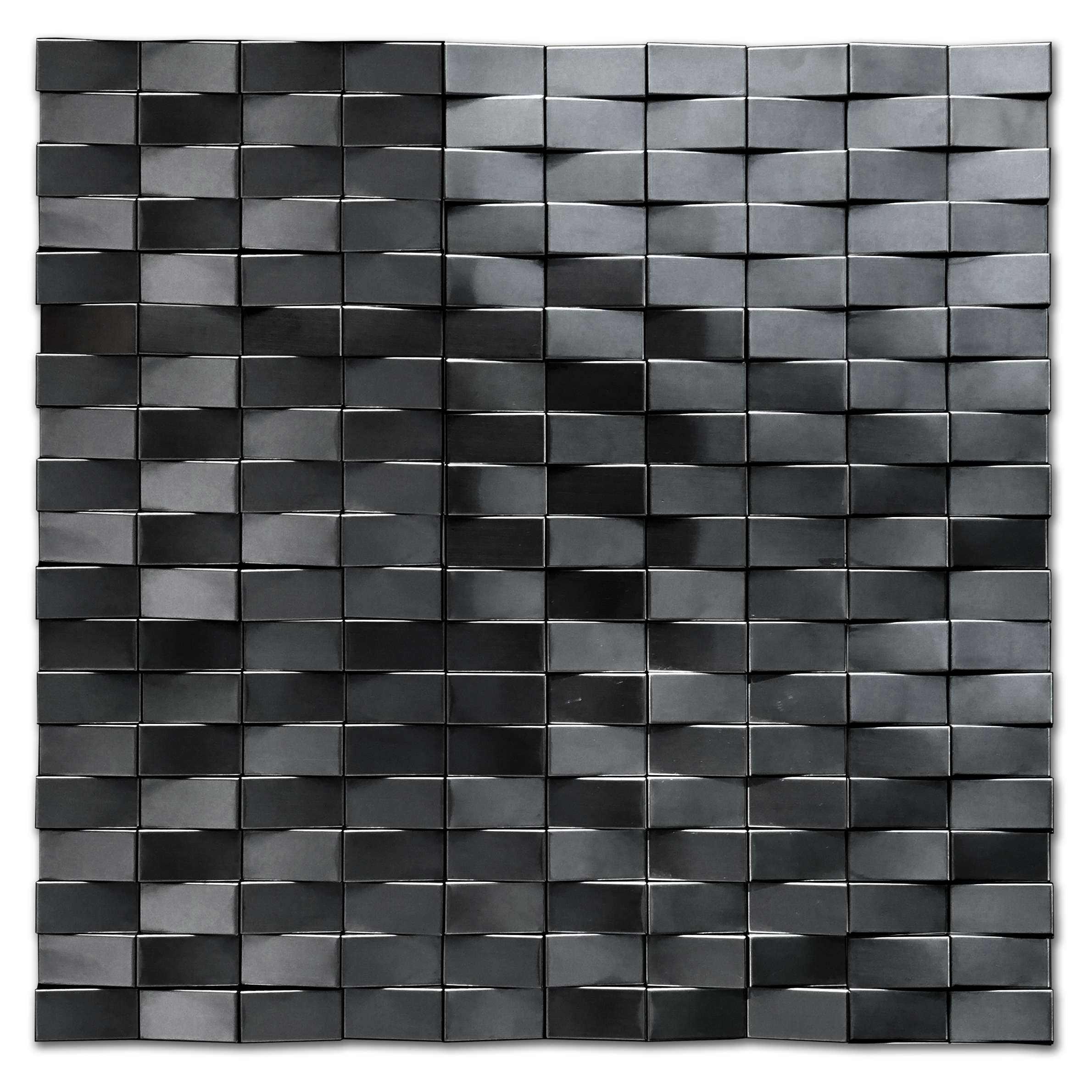 wave stainless steel mosaic wall tile