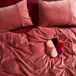 Kip Co Dusty Pink Velvet Quilt Cover Homeroom Design