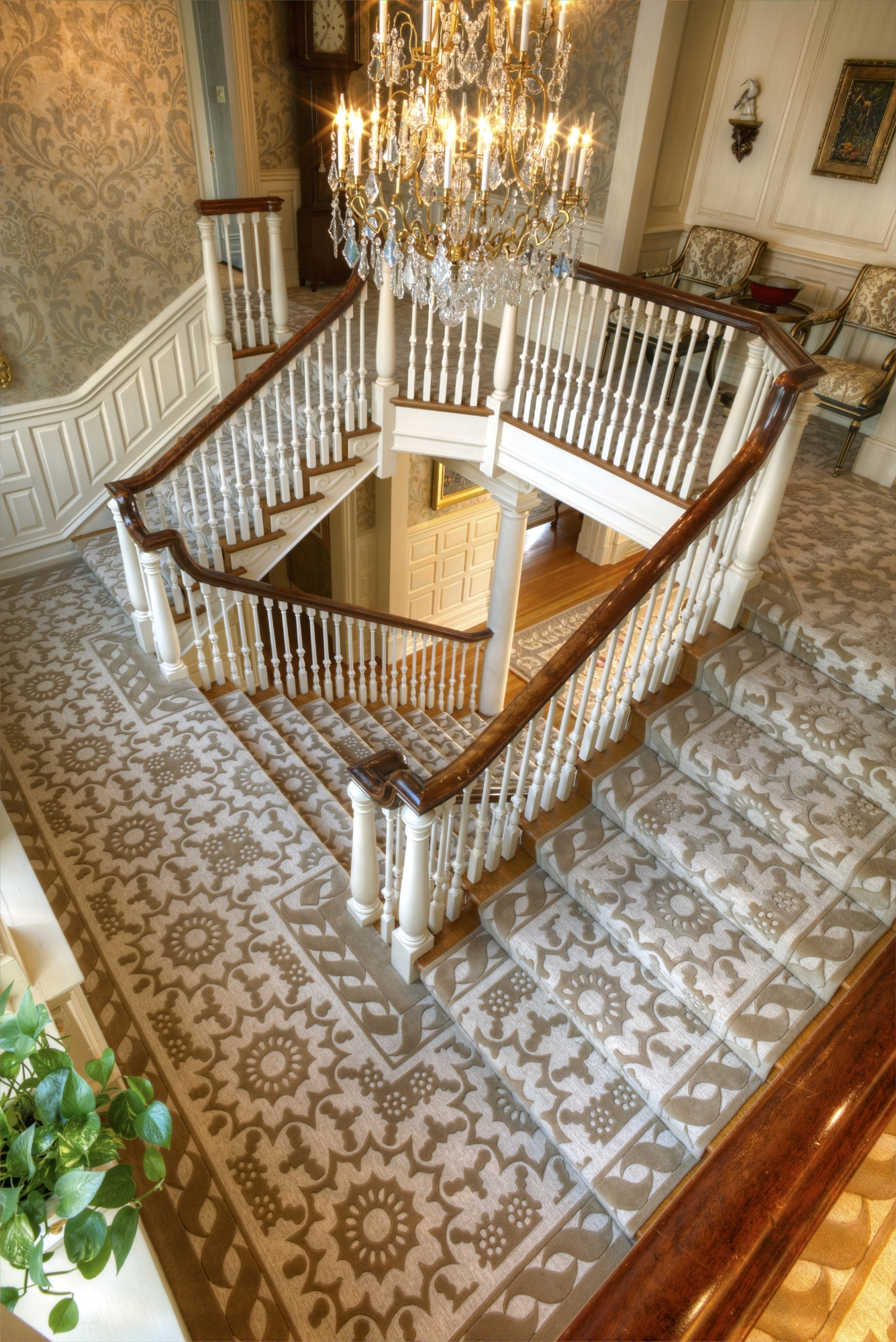 Lang Carpet Portfolio Of Our Work Gallery Page — Lang Carpet | Carpeting For Stairs Residential | Spiral Stair | Communal Stairway | Commercial | Houzz | Waterfall Stair