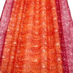 Sari Window Curtain Orange Crimson Pink Colors By Padmini