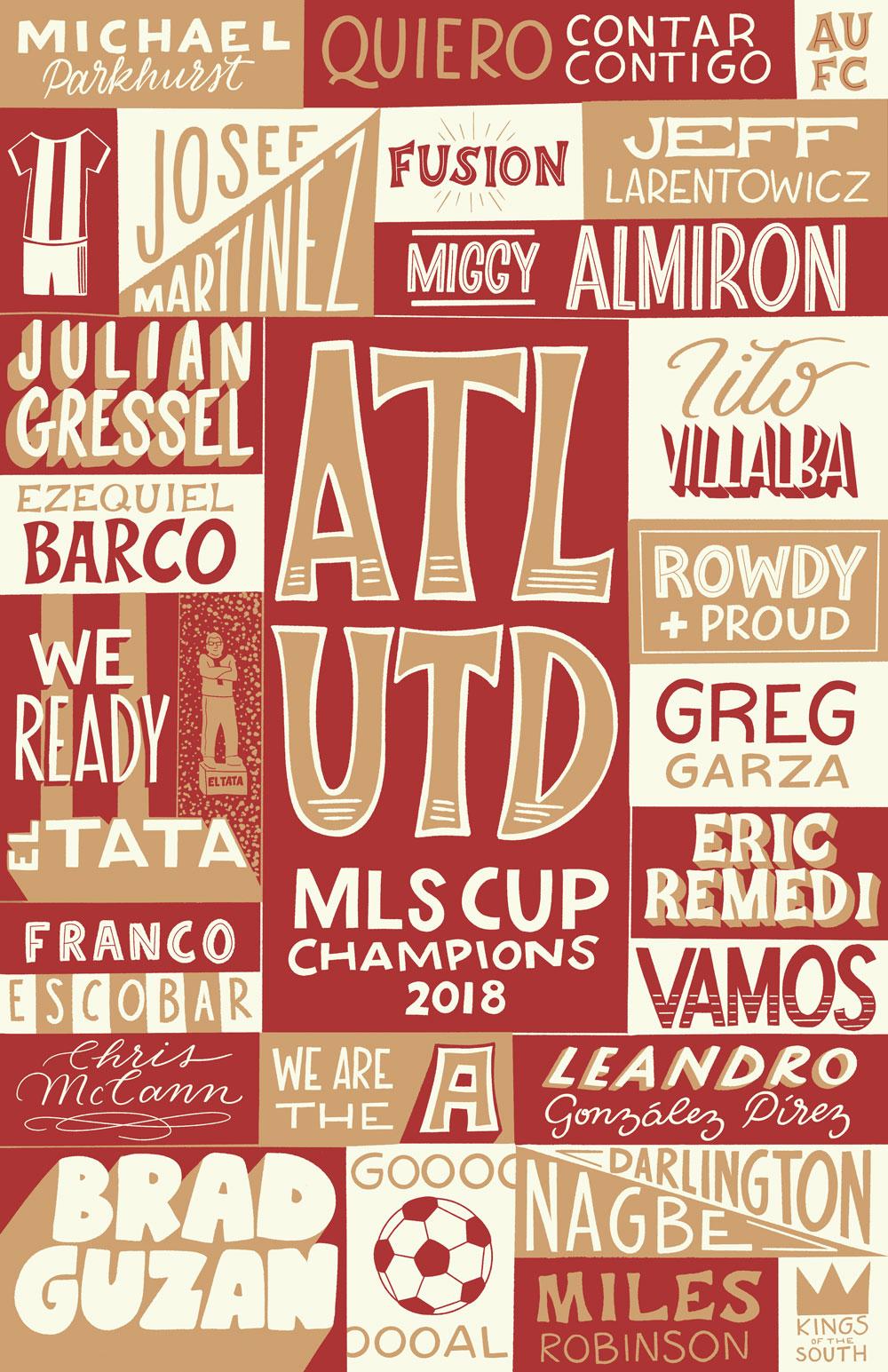 atlanta united poster courtney macca