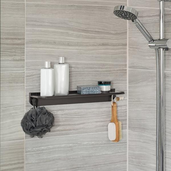 installing shower caddies or soap