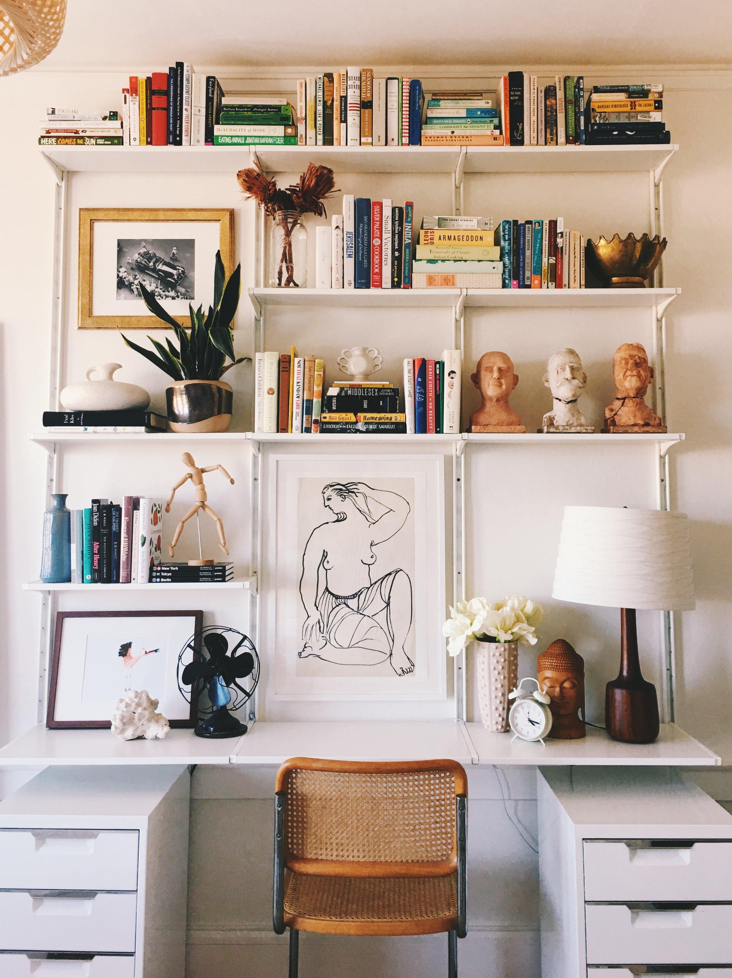 How I Designed Wall Mounted Shelving With Ikea Eliza Kern
