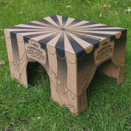card box/house for guinea pigs