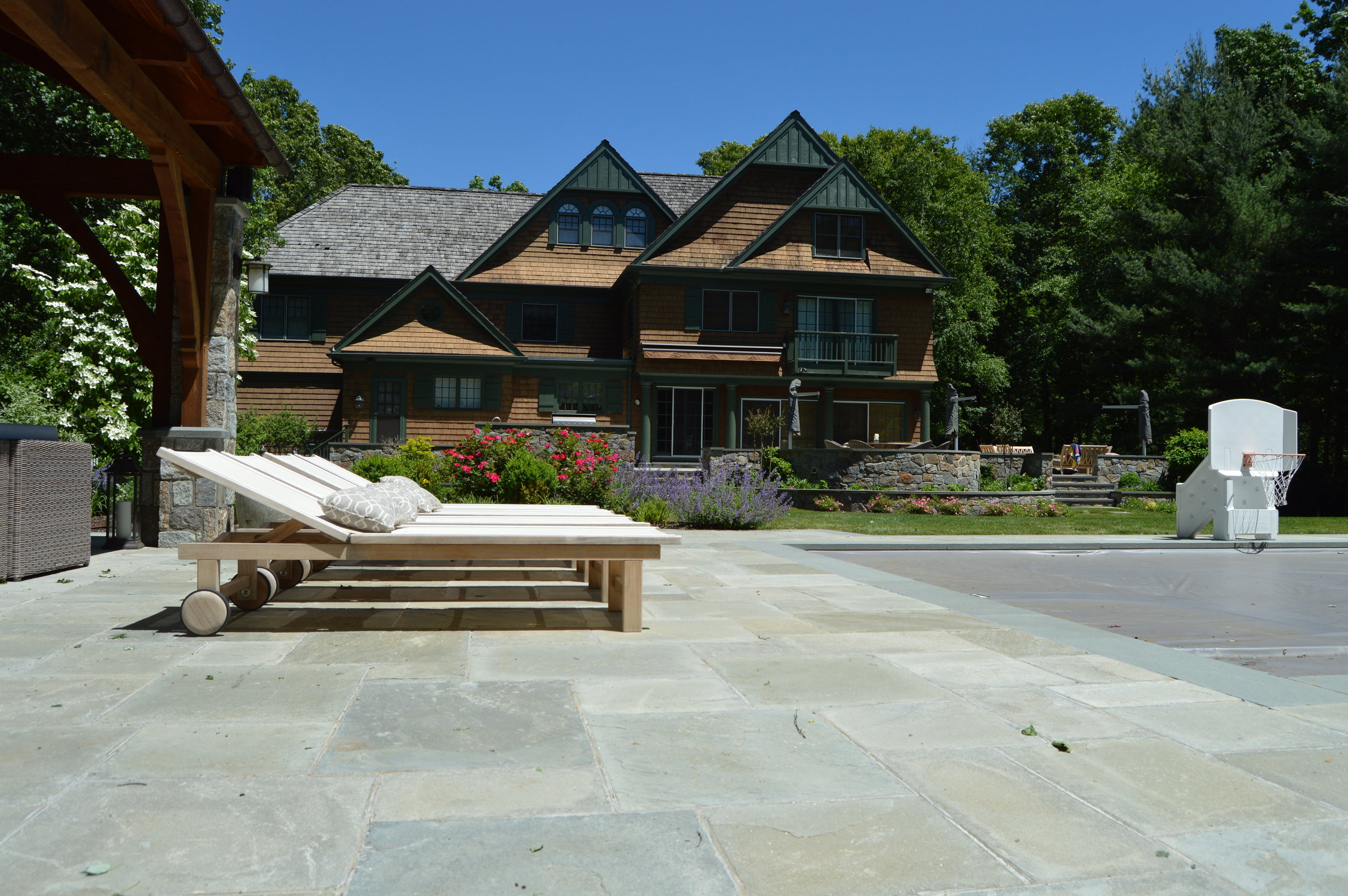 patio installation stamped concrete vs