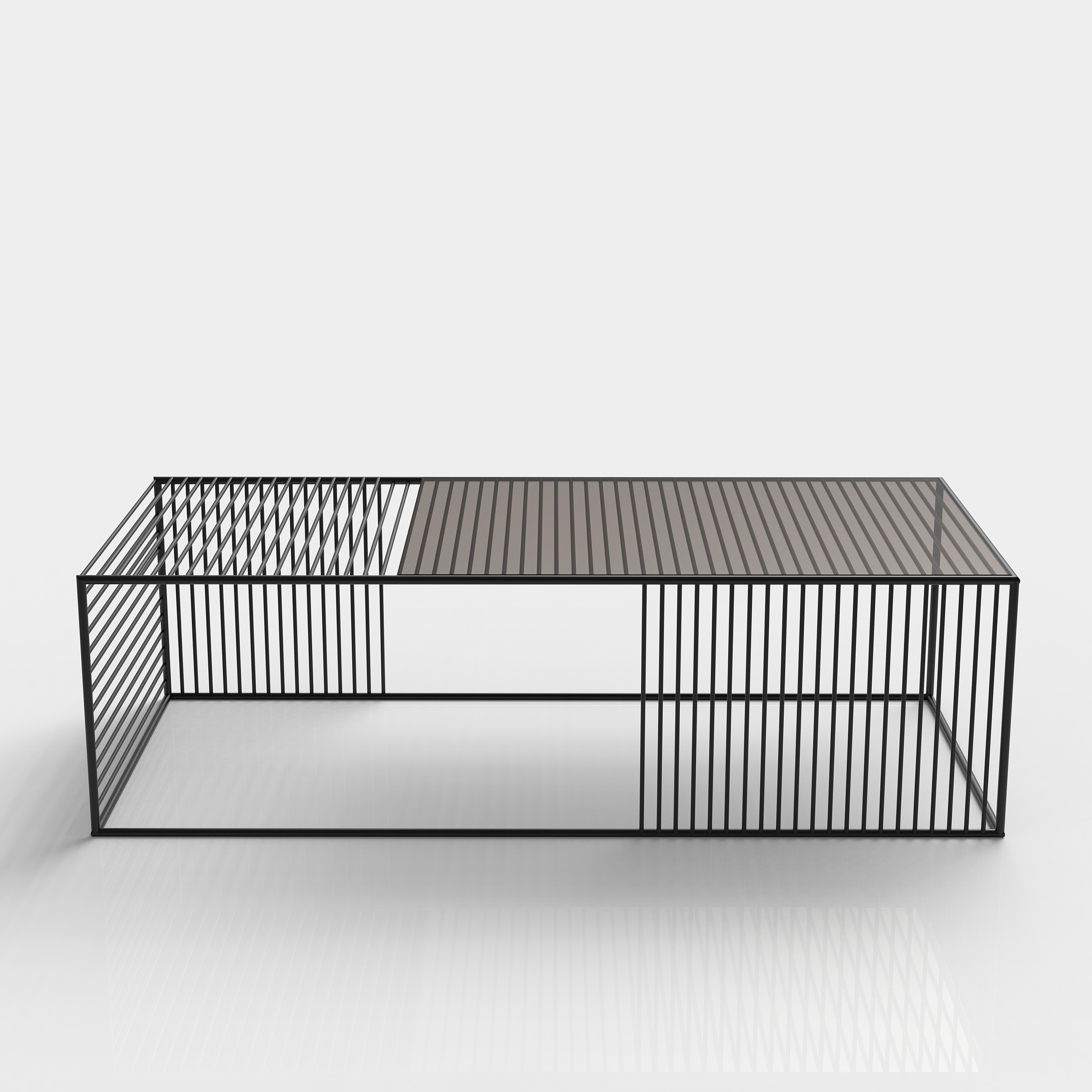 wire coffee table small rectangle iacoli mcallister