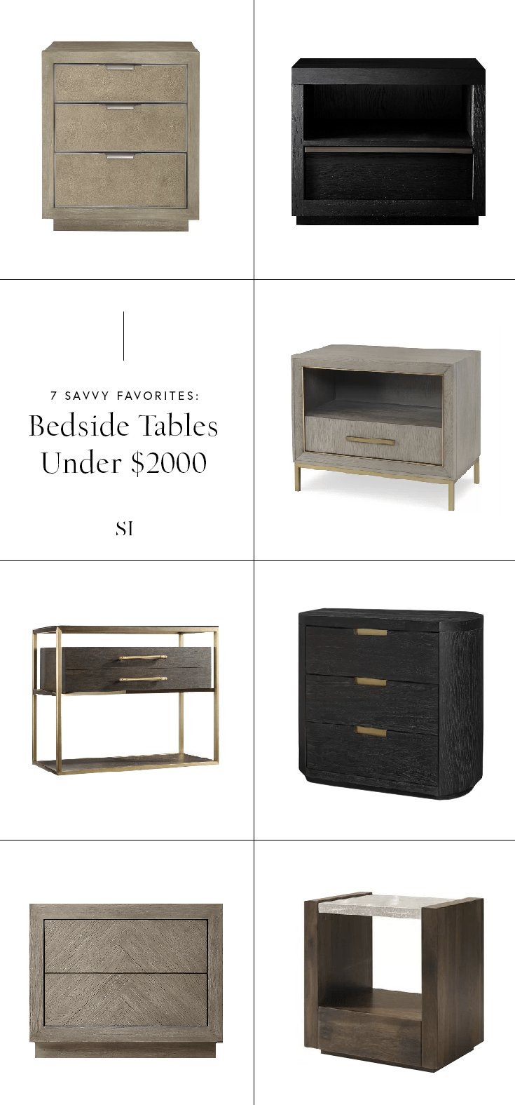 Savvy Favorites Best Nightstands And Bedside Tables For A