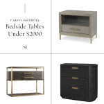 Best Nightstands And Bedside Tables For A Contemporary Modern Bedroom The Savvy Heart