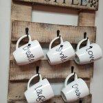 2 5 Coffee Tea And Thee 6 P M Coffee Or Tea Mug Holder W Optional Decal Mug Add On Welcome