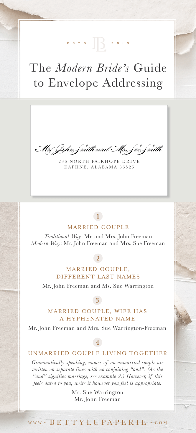 How To Address Wedding Invitations For Modern Brides