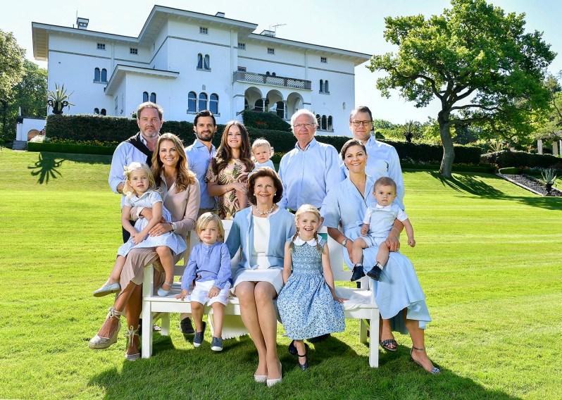 Die schwedische Königsfamilie kann sich über Nachwuchs nicht beklagen   Foto: Kungahuset,Jonas Ekströmer