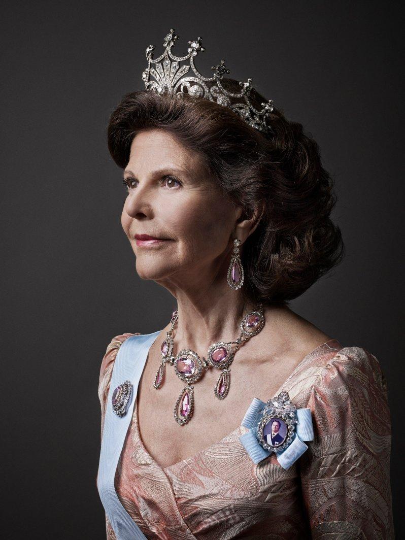 Ihr königliches Haupt krönt Silvia gerne mit der Tiara von Königin Sofia. © Anna-Lena Ahlström kungahuset.se