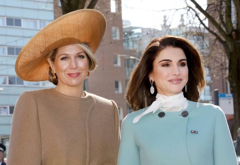 Königin Maxima und Königin Rania über alle möglichen Themen tauschen sich gerne aus.    Foto:imago/PPE