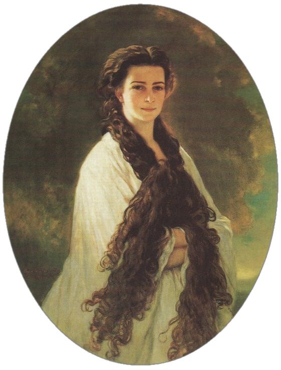 Es war damals ungewöhnlich, dass sich eine Frau des Adels mit offenen Haaren malen ließ. Sisi war jedoch stolz auf ihre lange Mähne. Foto: Gemeinfrei